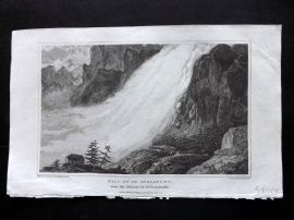 Gallery of Nature 1818 Fall of an Avalanche, Glacier of Grindelwalde Switzerland